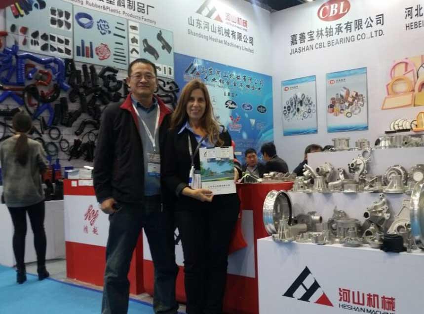 我公司成功参加上海法兰克福汽车展